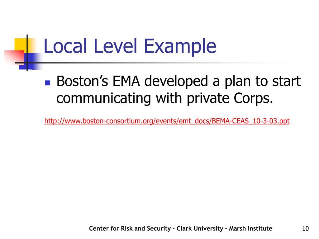 Local Level Example