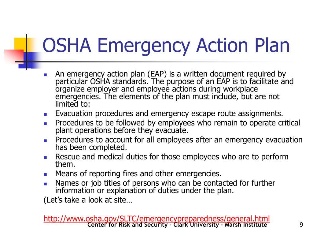 OSHA Emergency Action Plan