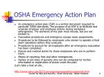 osha emergency action plan