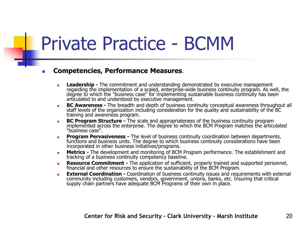 Private Practice - BCMM