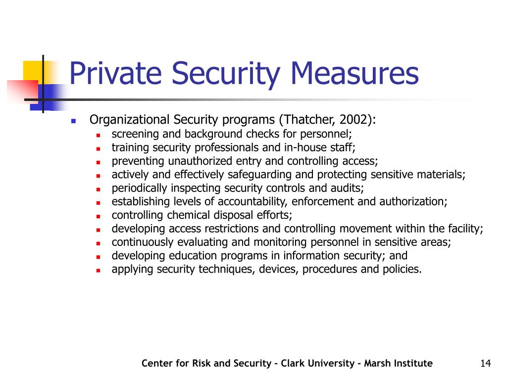 Private Security Measures