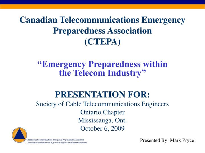 Canadian telecommunications emergency preparedness association ctepa