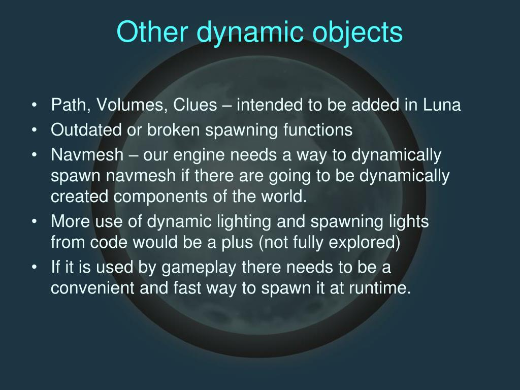 Other dynamic objects