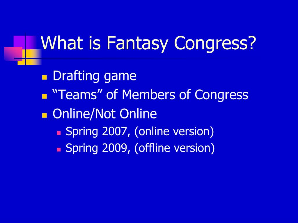 What is Fantasy Congress?