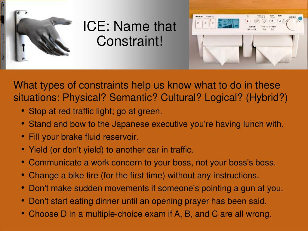 ICE: Name that Constraint!