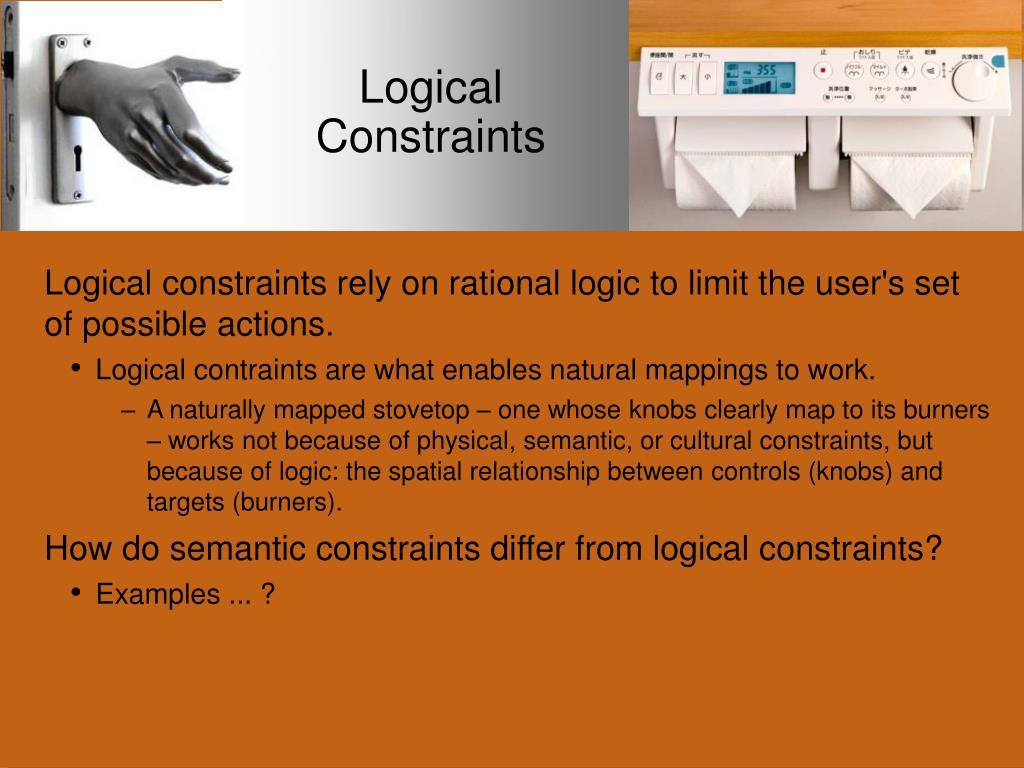 Logical Constraints