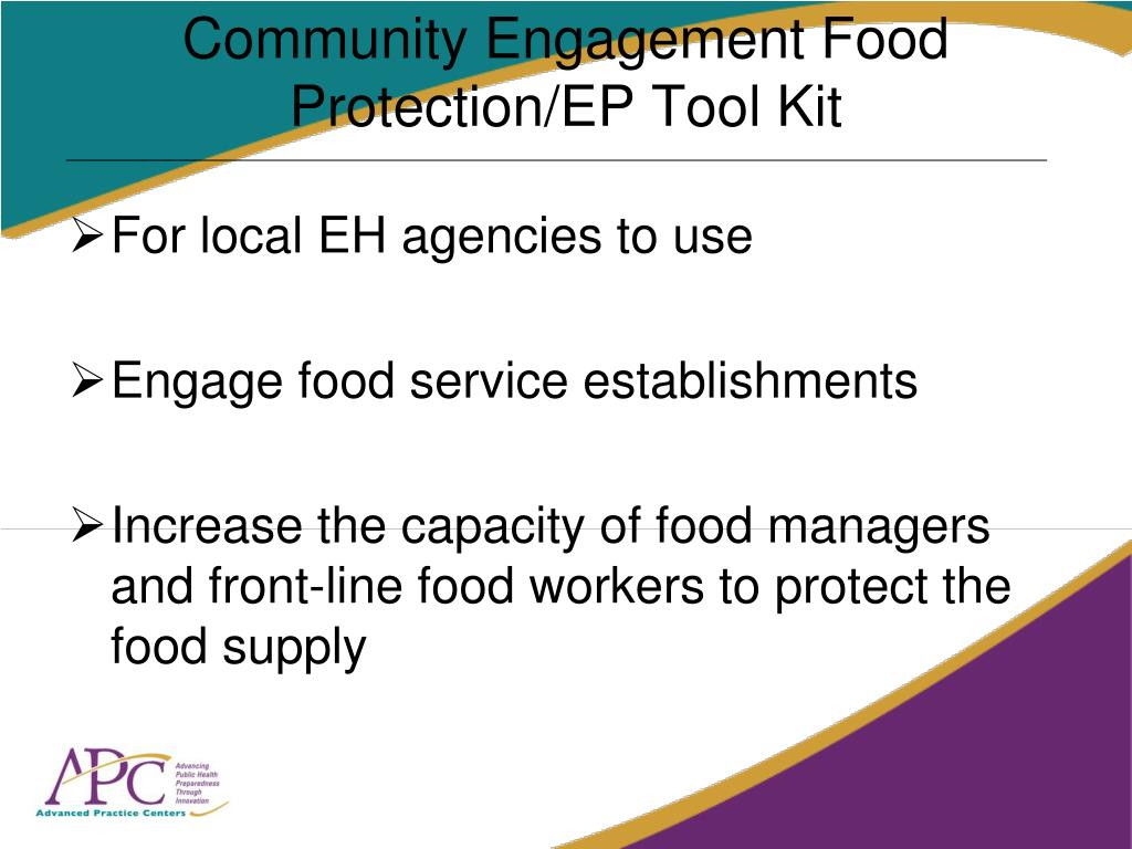 Community Engagement Food Protection/EP Tool Kit