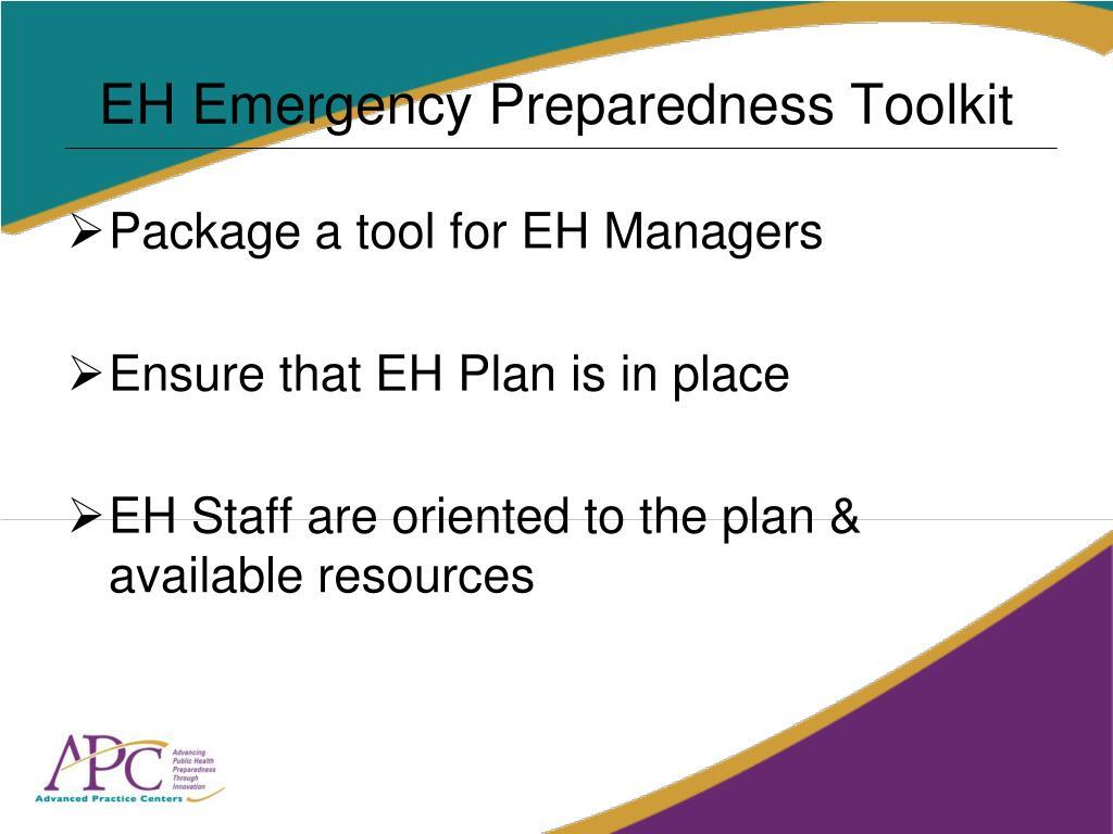 EH Emergency Preparedness Toolkit