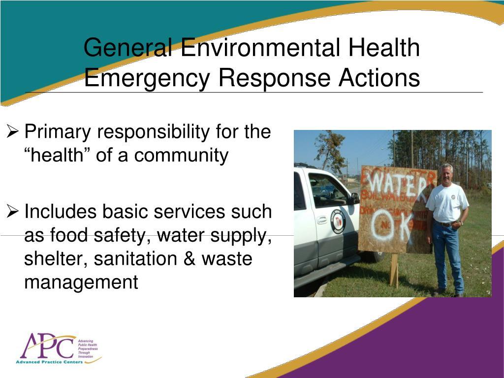 General Environmental Health