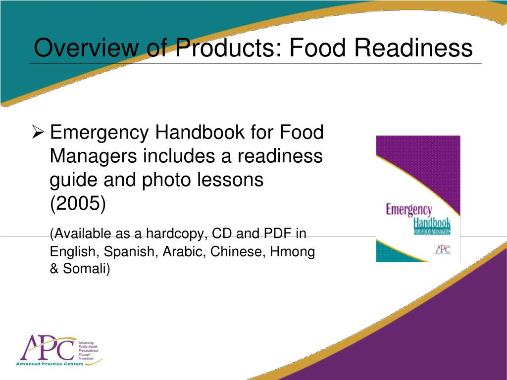 Overview of Products: Food Readiness