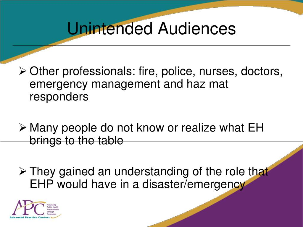 Unintended Audiences