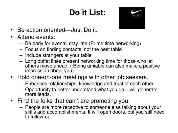 Do it List: