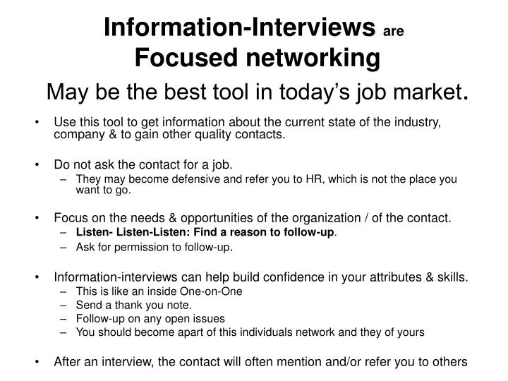 Information-Interviews