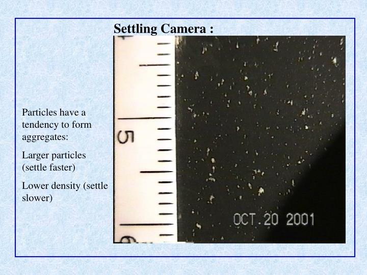 Settling Camera :