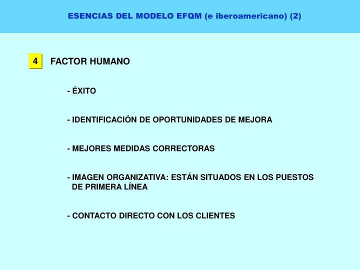 ESENCIAS DEL MODELO EFQM (e iberoamericano) (2)