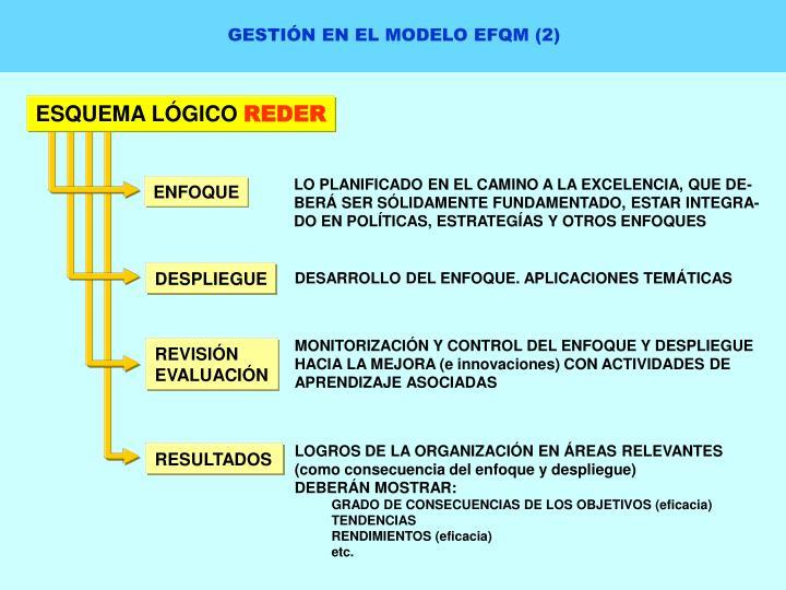 GESTIÓN EN EL MODELO EFQM (2)