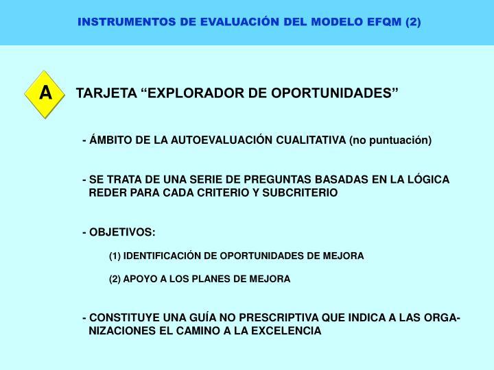 INSTRUMENTOS DE EVALUACIÓN DEL MODELO EFQM (2)