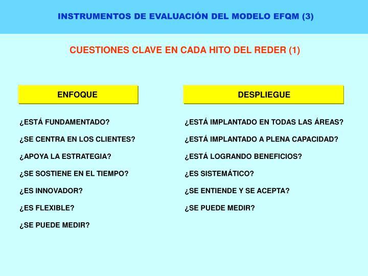 INSTRUMENTOS DE EVALUACIÓN DEL MODELO EFQM (3)