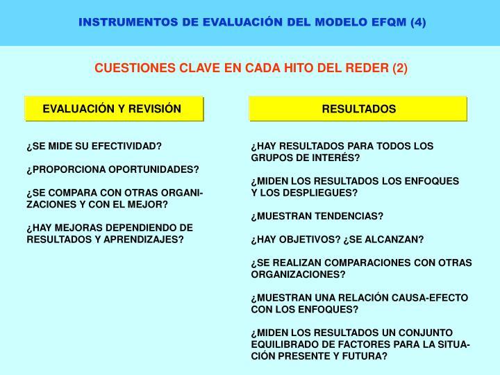 INSTRUMENTOS DE EVALUACIÓN DEL MODELO EFQM (4)