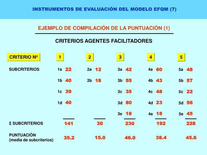 INSTRUMENTOS DE EVALUACIÓN DEL MODELO EFQM (7)