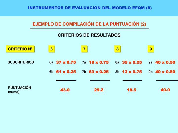 INSTRUMENTOS DE EVALUACIÓN DEL MODELO EFQM (8)
