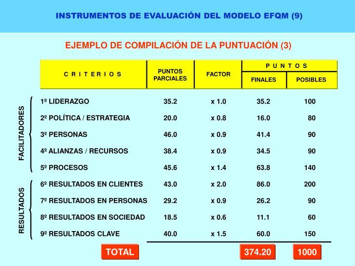 INSTRUMENTOS DE EVALUACIÓN DEL MODELO EFQM (9)