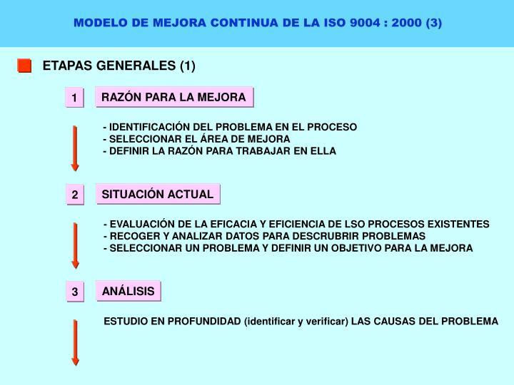 MODELO DE MEJORA CONTINUA DE LA ISO 9004 : 2000 (3)