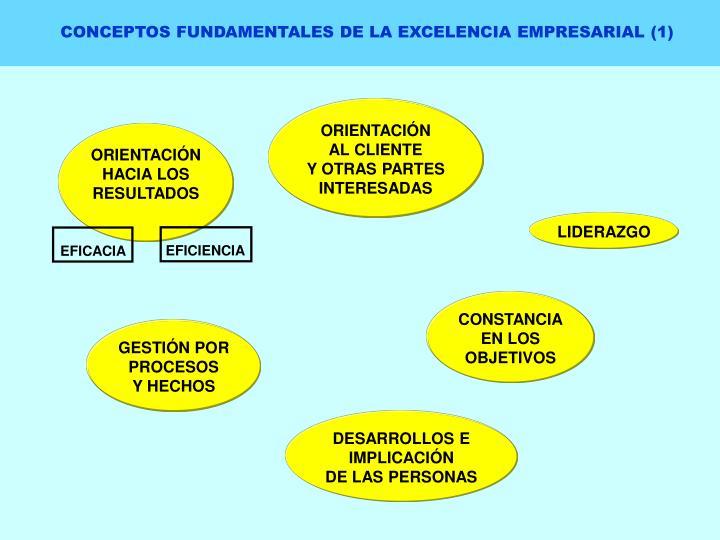CONCEPTOS FUNDAMENTALES DE LA EXCELENCIA EMPRESARIAL (1)