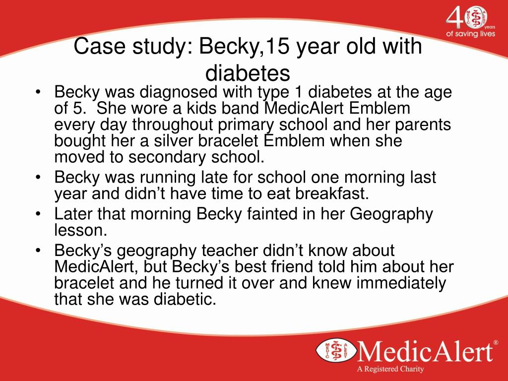 Case study: Becky,15 year old with diabetes