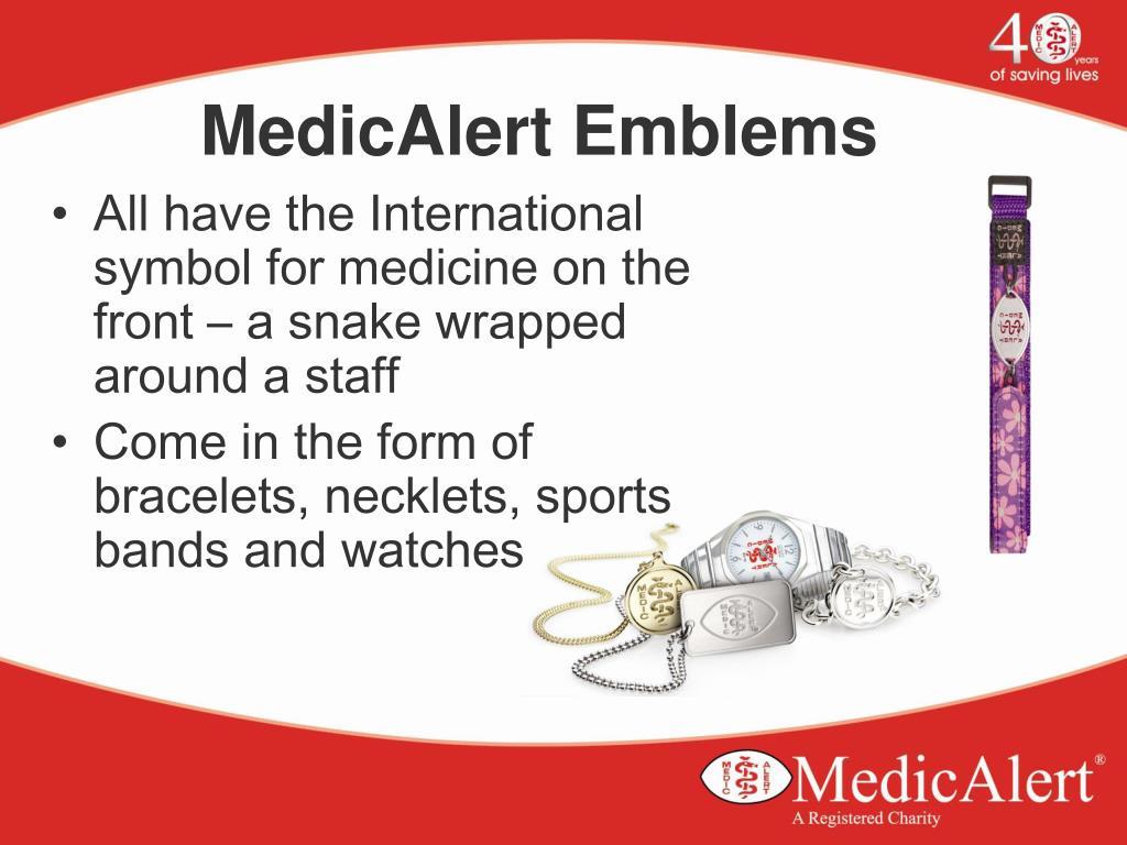 MedicAlert Emblems