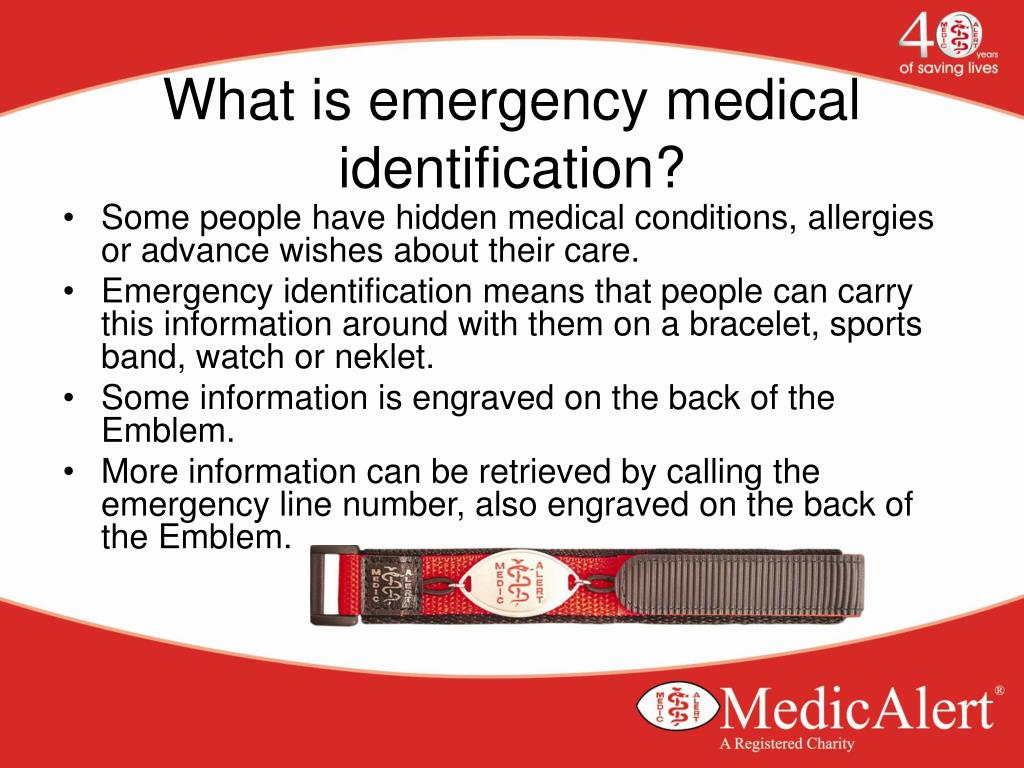 What is emergency medical identification?