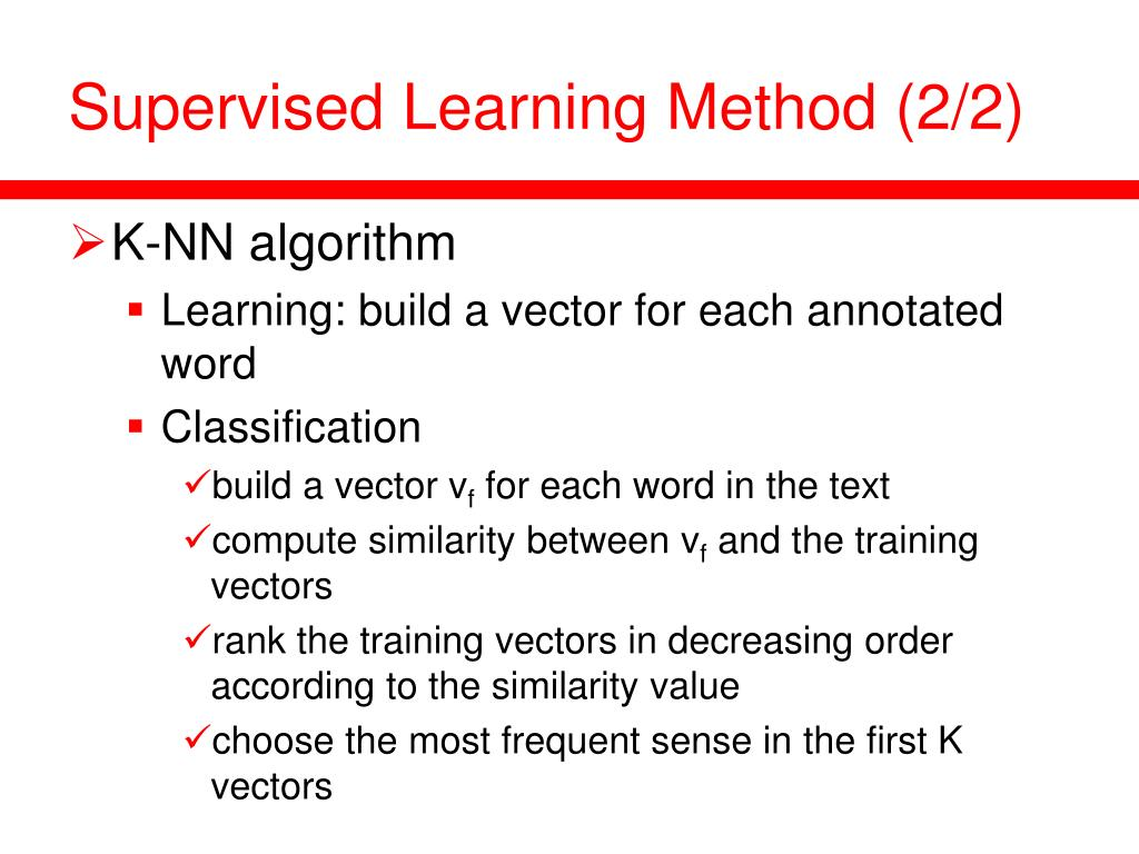 Supervised Learning Method (2/2)