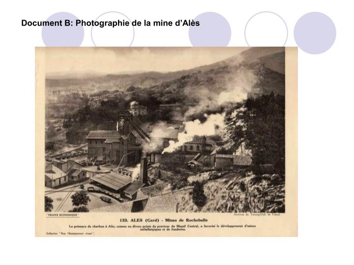 Document B: Photographie de la mine d'Alès