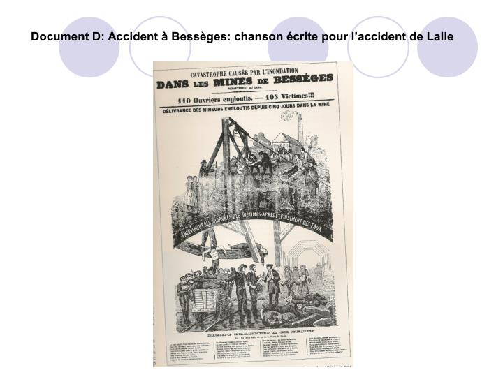 Document D: Accident à Bessèges: chanson écrite pour l'accident de Lalle