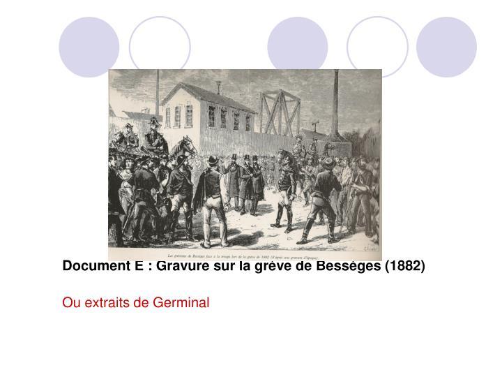 Document E : Gravure sur la grève de Bessèges (1882)