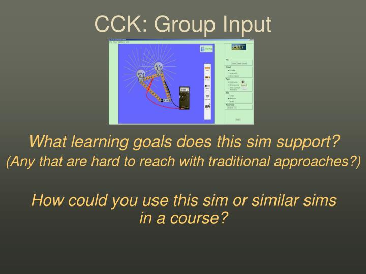 CCK: Group Input