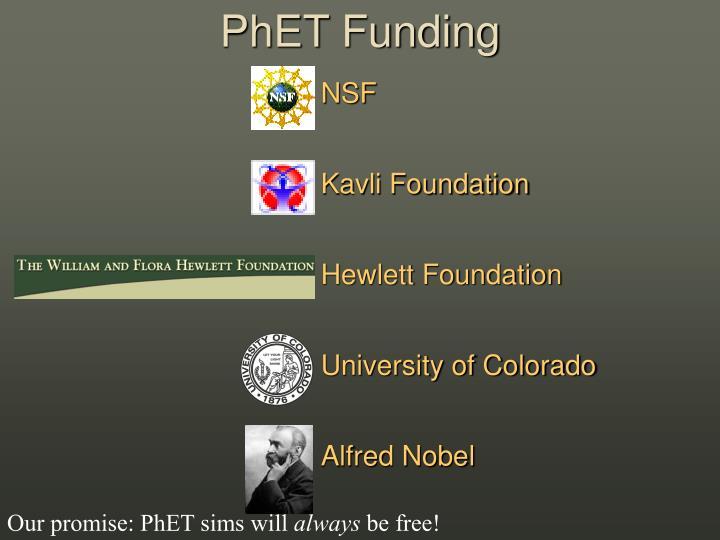 PhET Funding