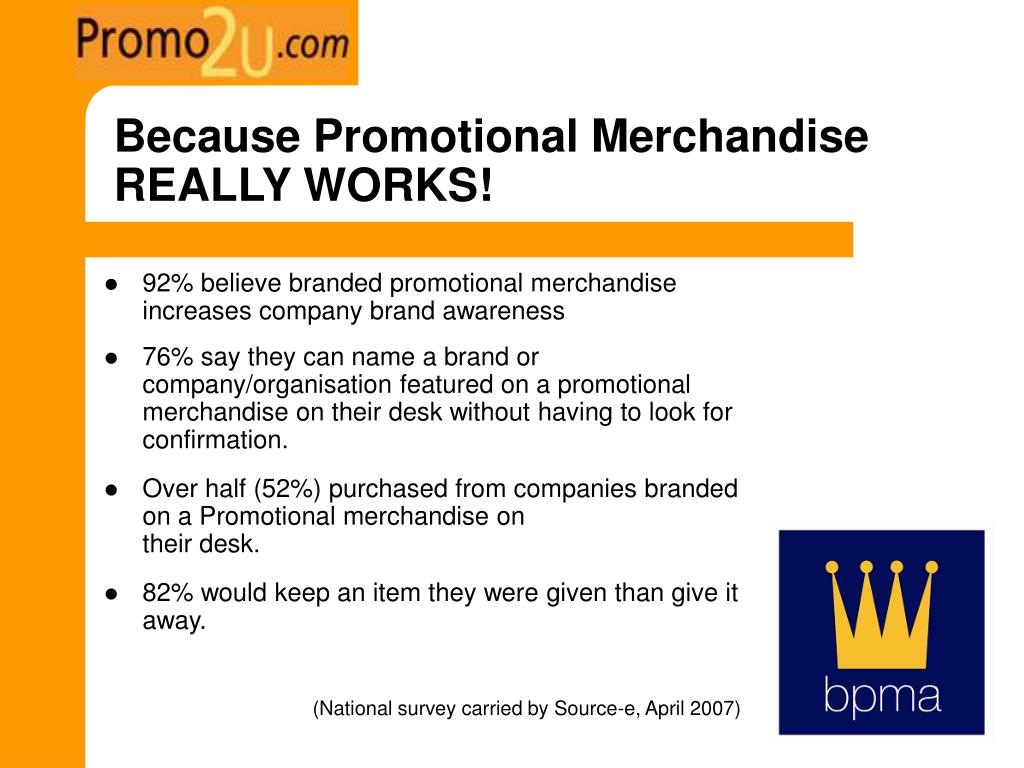 Because Promotional Merchandise