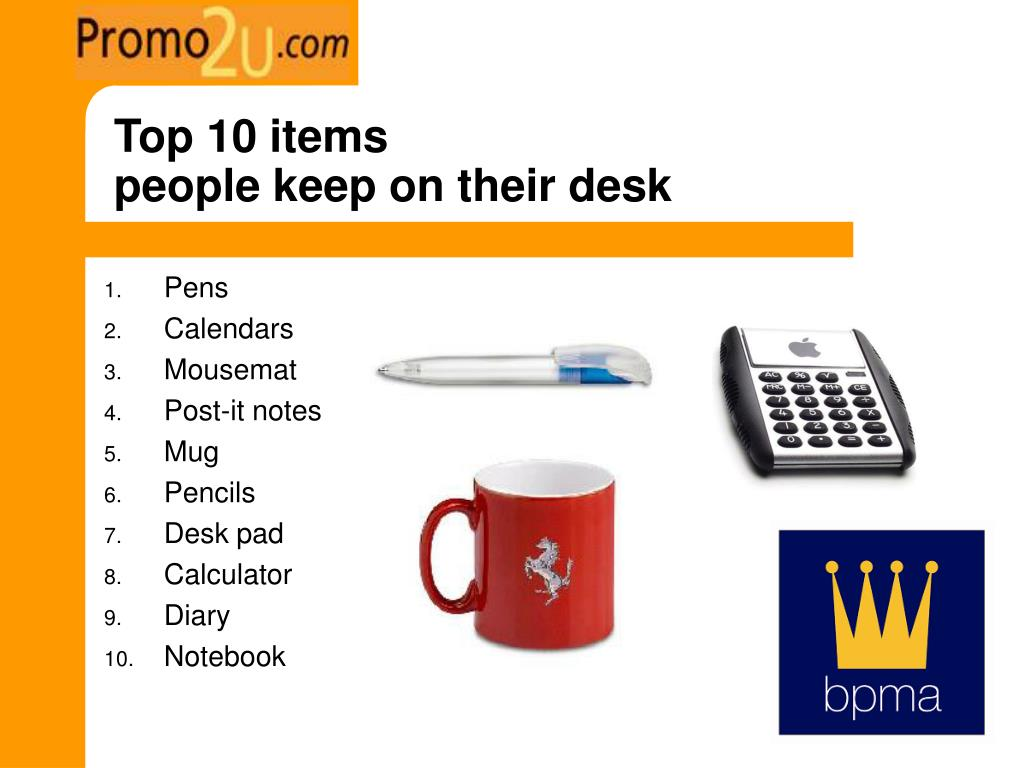 Top 10 items