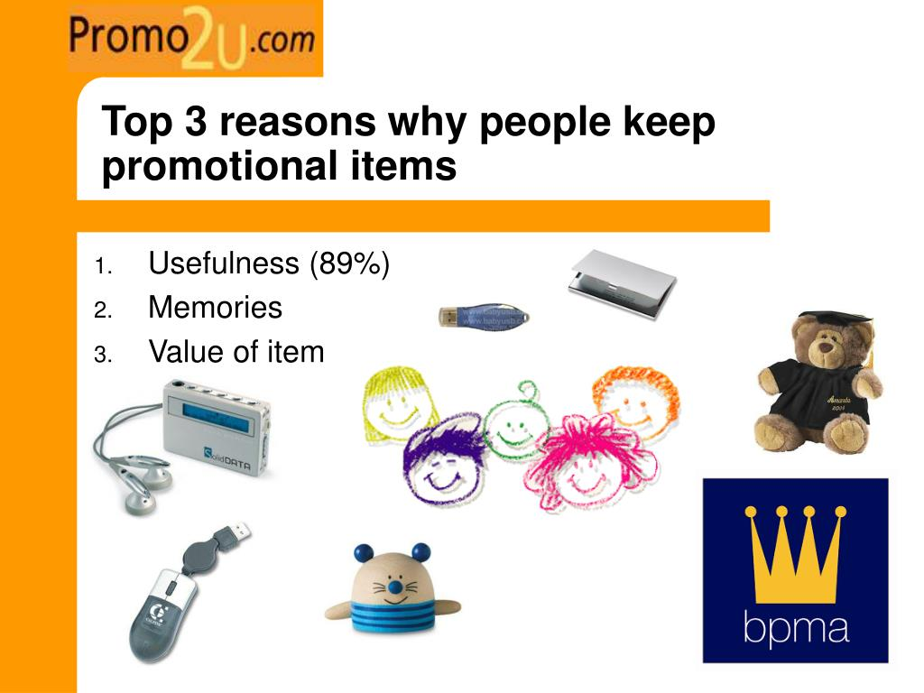 Top 3 reasons why people keep promotional items