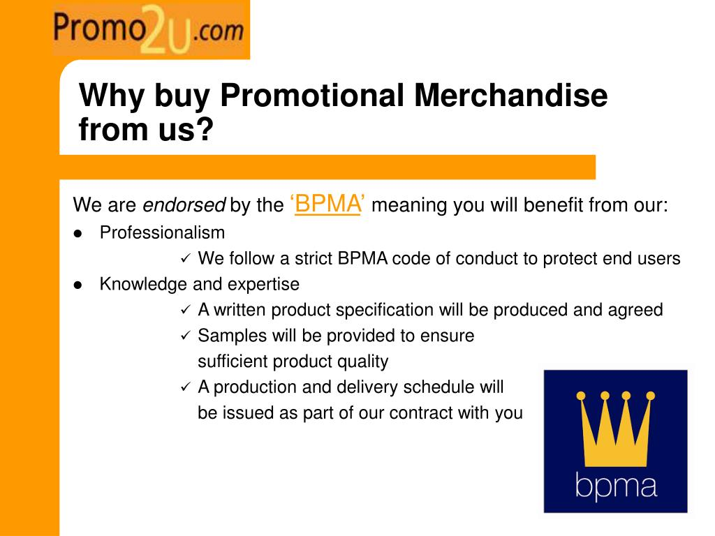 Why buy Promotional Merchandise from us?