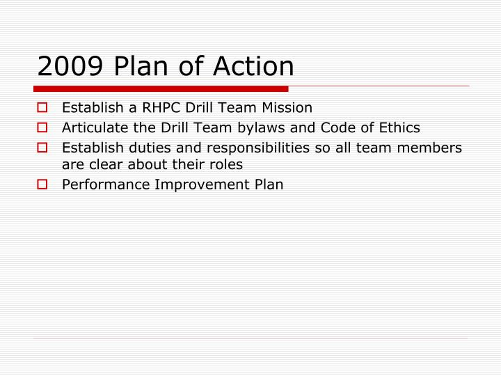 2009 Plan of Action