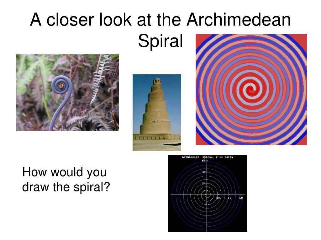 A closer look at the Archimedean Spiral