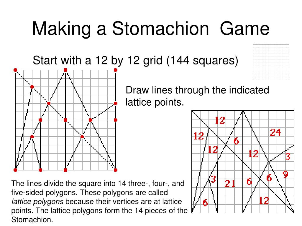 Making a Stomachion  Game