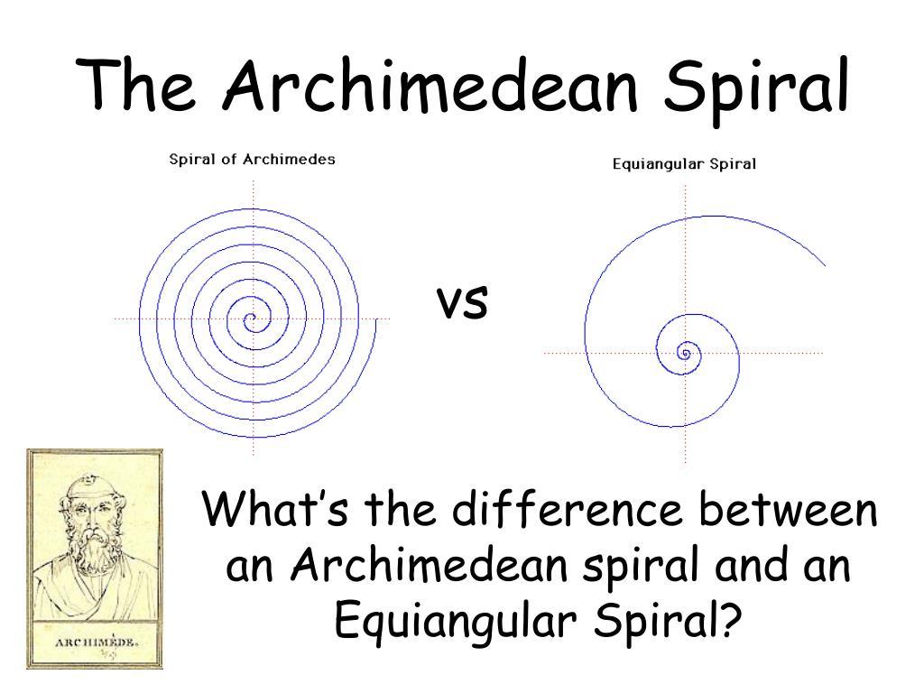 The Archimedean Spiral