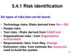 5 4 1 risk identification