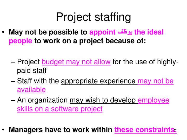 Project staffing