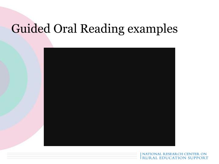 Guided Oral Reading examples