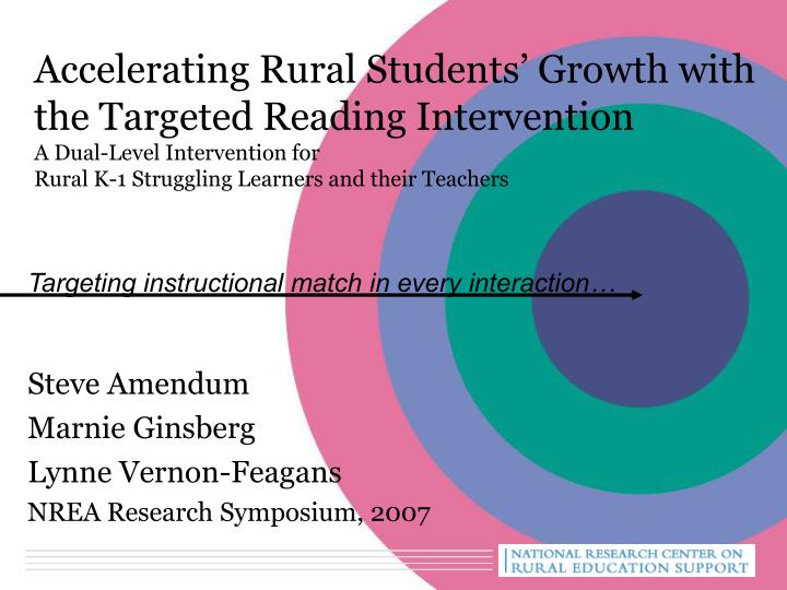 Accelerating Rural Students' Growth with the Targeted Reading Intervention