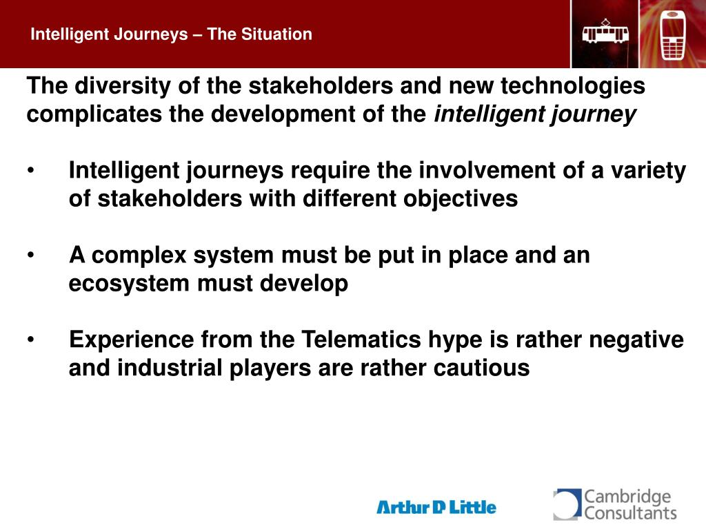 Intelligent Journeys – The Situation